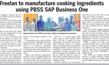 Freelan to manufacture cooking ingredients using SAP Business One partnering with PBSS as the implementer
