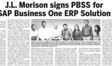 J.L. Morison signs with PBSS for SAP Business One as their ERP Solution